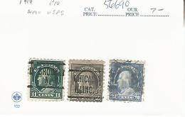 56690 ) USA   1914  Postmark Cancel  Precancel - Etats-Unis