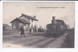 SAINT SEBASTIEN LES NANTES - LA GARE - TRAIN - 44 - Otros Municipios