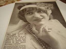 ANCIENNE PUBLICITE SAVON CADUM  MLLE GABY DESLY 1914 - Other
