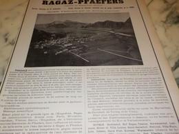 ANCIENNE PUBLICITE VOYAGE THERMAL RAGAZ-PFAEFERS CANTON SAINT GALL SUISSE 1905 - Chocolate