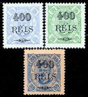 !■■■■■ds■■ Mozambique 1902 AF#87-89(*) Surcharges On King Carlos 3x 400 Réis (x10228BI) - Mozambique