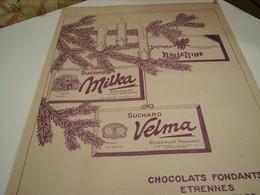 ANCIENNE PUBLICITE CHOCOLAT FONDANT SUCHARD 1913 - Affiches