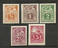 Estland Estonia 1922-1924 Michel 32 - 36 B Weberin & Schmied * - Estonia