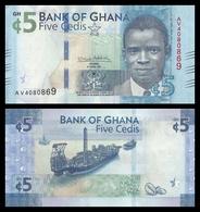 Ghana 5 Cedis 2017 (2018) Pick New Sign SC UNC - Ghana
