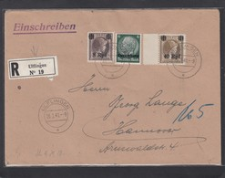EINGESCHRIEBENER  BRIEF  VON ULFLINGEN NACH HANNOVER. - 1940-1944 Deutsche Besatzung