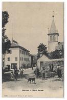 CPA France Haute Savoie 74 Nernier Hôtel Suisse Animée Enfants Chien - Autres Communes
