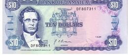 Jamaica P.71  10 Dollars 1991  Unc - Giamaica