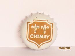 Capsules Ou Plaques De Muselet   BIÈRE CHIMAY  FOND BLANC - Bière