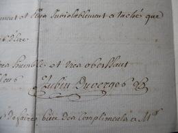 1762 LETTRE AUTOGRAPHE SIGNE AUBIN DUVERGER DE NIMES DIRECTEUR DES POSTES ASSASSINAT - Autographs