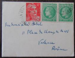 Petite Enveloppe + Cartes Avec Timbres YT N°680 Et 721 - 1949 - 1921-1960: Période Moderne