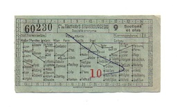 Billet Cie Des Tramways Strasbourgeois N°60230 Avec Publicité Exigez Les Bières Perle Brasserie Charles Kleinknecht - Autres