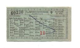 Billet Cie Des Tramways Strasbourgeois N°60230 Avec Publicité Exigez Les Bières Perle Brasserie Charles Kleinknecht - Transporttickets
