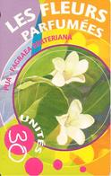 CARTE°-PUCE-POLYNESIE-30U-PF123--GEMA-11/2001-FLEURS PARFUMES-LE PUA-UTILISE-TBE-LUXE - French Polynesia