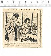 2 Scans 1905 Humour Jeu De Cartes Ancien Joueur De Manille / Mendiant Aveugle 51C16 - Vieux Papiers