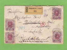 EINGESCHRIEBENER  BRIEF  VON HEILIGENKREUZ B. BADEN NACH GÜTERGLÜCK GEÖFFNET VON DER DREDNER ZENSUR(FINANZ). D - 1918-1945 1ra República