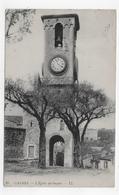 (RECTO / VERSO) CANNES EN 1917 - N° 95 - L' EGLISE DU SUQUET - LEGERS PLIS - BEAU CACHET - CPA VOYAGEE - Cannes