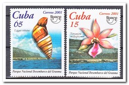 Cuba 2001, Postfris MNH, Flowers, Shells, Upaep - Cuba