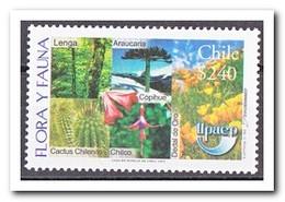 Chili 2003, Postfris MNH, Flowers, Trees, Cacti - Chili