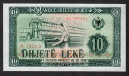 ALBANIA : 10 Lek - 1976 - UNC - Albania