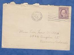 Enveloppe Ancienne - SAN DIEGO , California - 1918 - Cachet Kearney Branch - Timbre Stamp US Postage 3 Cents - Etats-Unis