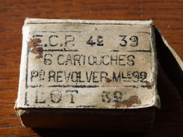 Boite De Cartouches 8mm Pour Révolver Francais WW1 (neurtalisées) - 1914-18