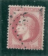 """Napoléon Lauré  N° 32- Rose Vif  - Côte ??? ; + Variété """" Fond Ligné Abs"""" (petit 0 Au Dessus Du 0 De Droite) - 1863-1870 Napoléon III Lauré"""