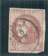 Emission De Bordeaux 2 Cts Brun Rouge N° 40B TTB Côte 330€ - 1870 Bordeaux Printing