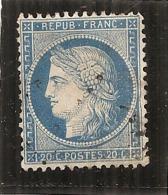 Cérés N° 37 - 20 Cts - Bleu TTB - 1870 Siege Of Paris