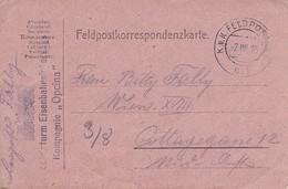 """Feldpostkorrespondenzkarte - Landsturm Eisenbahnsicherungs Kompagnie """"Opcina"""" - 1916 (34594) - 1850-1918 Imperium"""