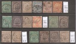 Tunisie - Tunisia - 1900 - Lot De Timbres Classiques Oblitérés - Côte 30 Euros - TTB - Tunisie (1888-1955)