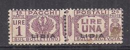 COLONIE ITALIANE LIBIA 1927-37 PACCHI POSTALI SASS. 19 MNH VF - Libia