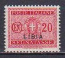 COLONIE ITALIANE LIBIA 1934  SEGNATASSE SOPRASTAMPATI SASS. 14 MLH VF - Libye