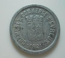 Token//Jeton??? * 10 Centimes 1921 Chambre De Commerce D'Evreux - Unclassified