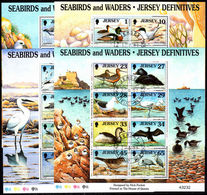 Jersey 1997-99 Birds Souvenir Sheet Set Of 4 Fine Used. - Jersey