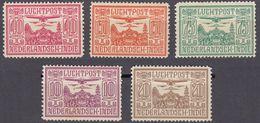 INDIE OLANDESI - NEDERL INDIE - 1928 - Serie Completa Posta Aerea Yvert 6/10; 5 Valori Nuovi MH. - Indes Néerlandaises