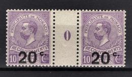 MONACO 1905 / 1919 / PAIRES N° 11  / MILLESIME 0 / NEUFS** - Postage Due