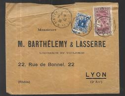 Algérie Lettre Du 09  12 1938  D' Oran Vers Lyon - Algeria (1924-1962)
