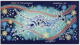 (125) Australia - (with Netherlands Stamp At Back Of Card)  - Aboriginal Art - Spirit Of Kangaroo - Aborigènes