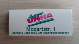 Zündholzschachtel Mit Radio-Werbung (Antenne Unna) (Deutschland) - Zündholzschachteln