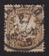 Germany, Bavaria 1888-1900, Coat Of Arms, #60 3pf..used, Wmk 95h, No Hinge Residue - Bavaria