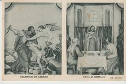 CPA -BOLZANETO - N. S. DELLA NEVE - PARTICOLARE DELL' ALTA        -SACRIFICIO DI ABRAMO - CENA DI EMMAUS - M. STUFFER - - Italy
