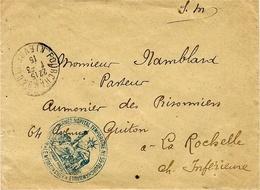 """1915- WWI- Env. De Fourchambault ( Nièvre )en F M """" 8è Corps D""""Armée.Hôpital Temporaire N° 59. Fourchambault - WW I"""