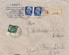 Brief Von Napoli In Die Schweiz (br3598) - 1900-44 Vittorio Emanuele III