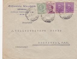 Brief Von Messina In Die Schweiz (br3599) - Storia Postale