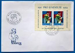 Suisse,Switzerland,Helvetia,- FDC -1962 -Pro Juventute- Minishee.S/Sheet=MNH - FDC
