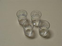 Verres à Liqueur Anciens Bicolores émaillés Lot De 4  TBE - Glasses