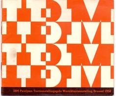 Brochure Dépliant  Toerisme Tourisme Pub Reclame - IBM - Wereldtentoonstelling Brussel 1958 - Toeristische Brochures
