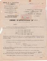 Réquisition Bois 1948 / Lettre Recommandée Ministère Reconstruction / Scierie / Rationnement - Unclassified