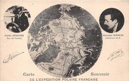 ¤¤  -  Carte Souvenir De L' EXPEDITION POLAIRE FRANCAISE  -  Emile SEQUIER Et Georges DARCIS  -  ¤¤ - Missions