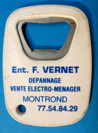 DECAPSULEUR ENT. F. VERNET DEPANNAGE VENTE ELECTRO-MENAGER MONTROND - Bottle Openers